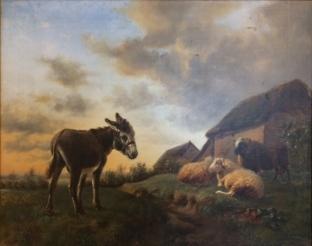 L'Ane et les moutons après restauration