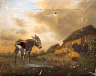 L'Ane et les moutons avant restauration